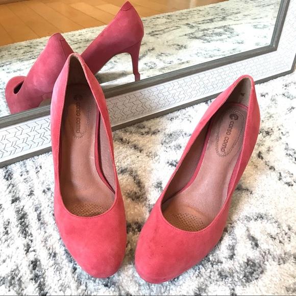 8190bc50810 Corso Como Shoes - Corso Como Pink Kid Suede Leather Pumps
